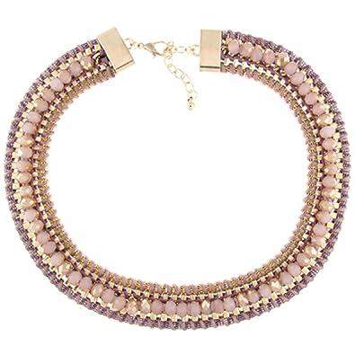 Halskette perle, Draht, geflochten: PYNK: Amazon.de: Schmuck