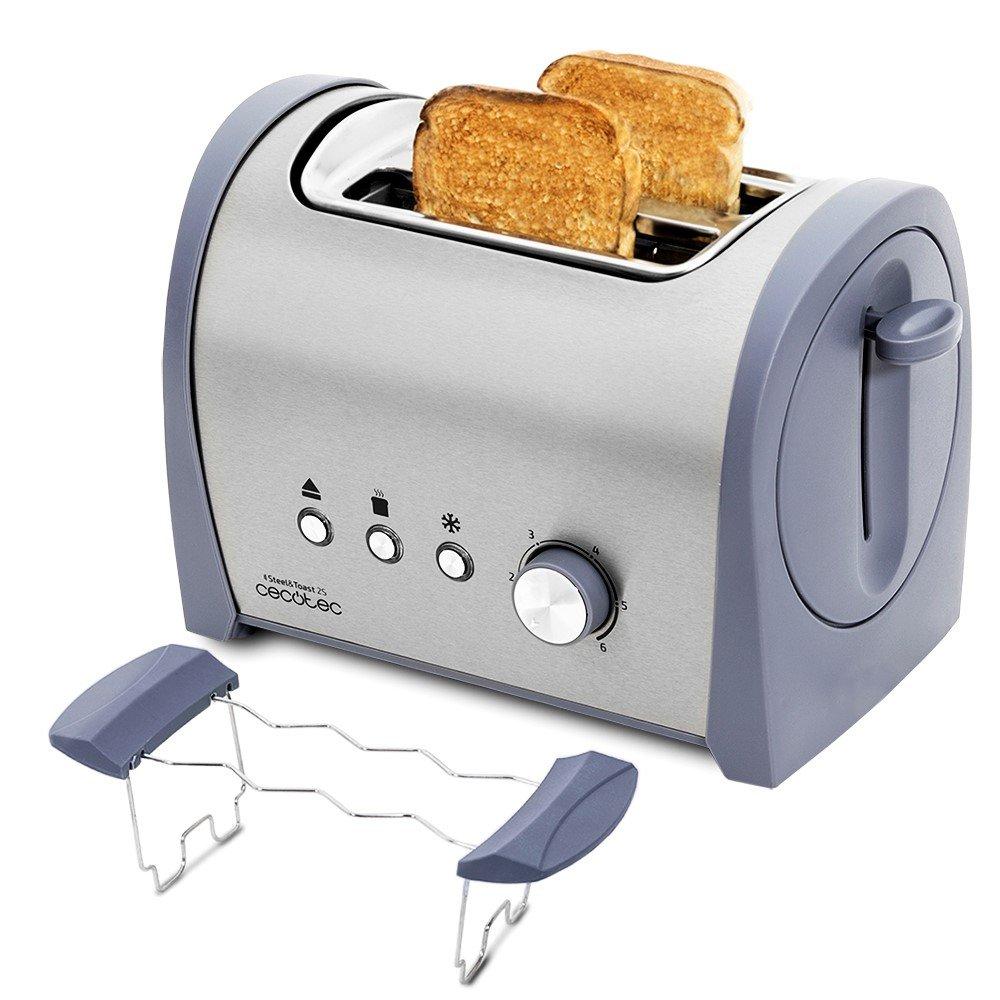 Cecotec Tostadora Steel Toast S Con capacidad para dos tostadas Incluye soporte
