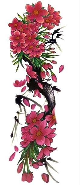 Tatouage Ephemere Sakura Cerisier En Fleur 48 17 Cm Amazon Fr