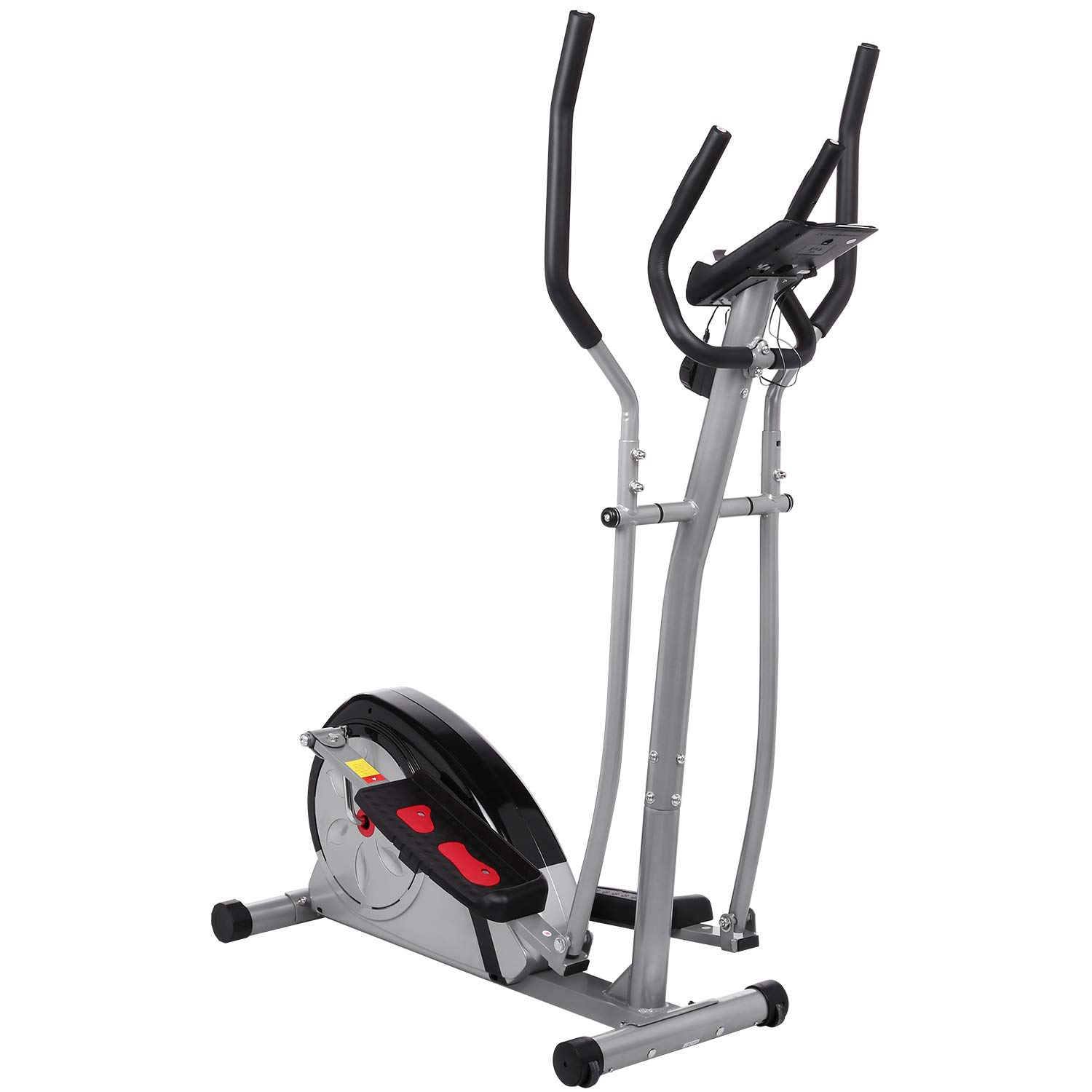 Fast 88 Portable Elliptical Machine Fitness Workout Cardio Training Machine, Magnetic Control Mute Elliptical Trainer with LCD Monitor,Top Levels Elliptical Machine Trainer (Grey) by Fast 88 (Image #3)