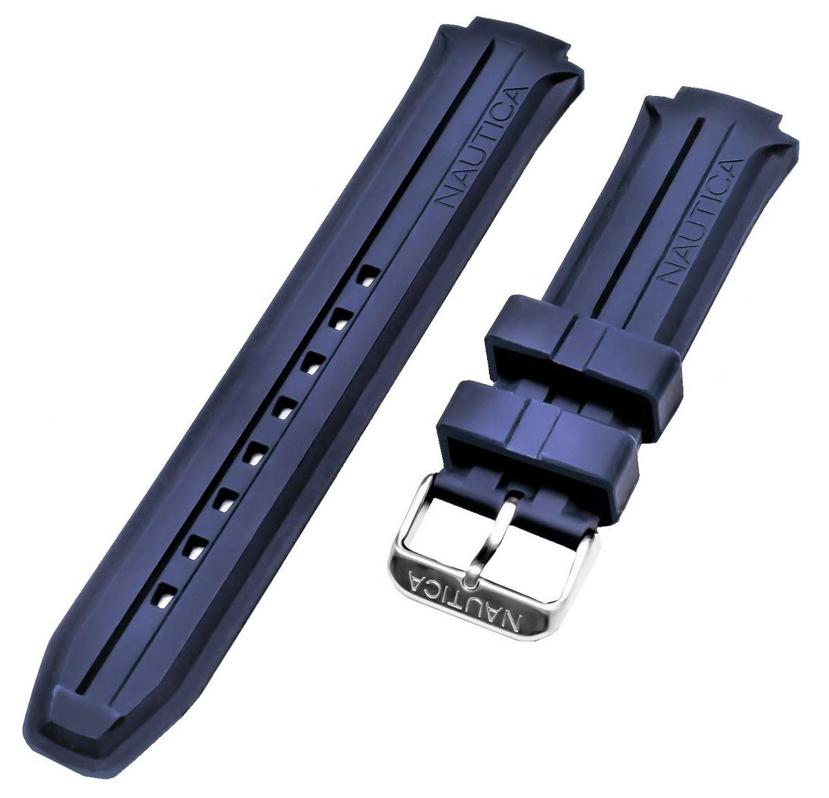 Nautica Men's N14676G | NST 700 Blue Silicone Rubber Original Replacement Watch Band/Strap