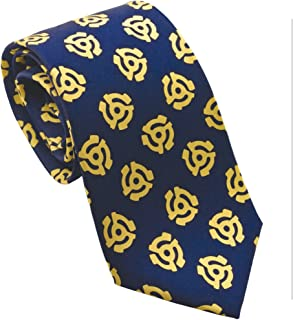 product image for Josh Bach Men's 45 Adapter Music Silk Necktie Blue, Made in USA