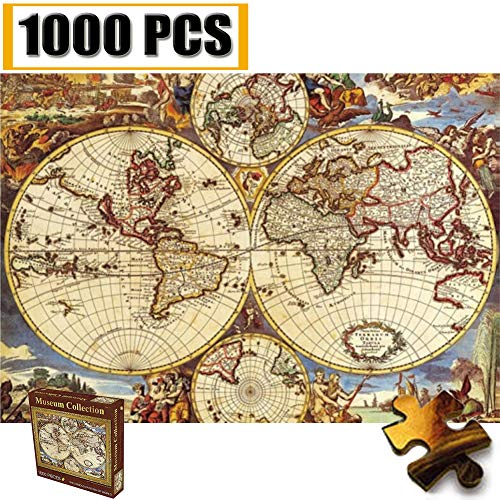 Jigsaw Puzzles 1000 Pieces Vincent Van Gogh Artwork Art for Teen Adult Grown Up Puzzles Large Size Toy Educational Games Gift Jigsaw Puzzle Jigsaw Puzzle 1000 PCS (Old World Navigation Map)