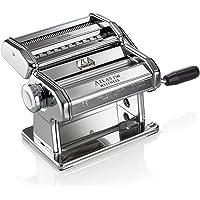 Marcato Atlas machine à pâtes, Acier inoxydable, argent, comprend Pasta Cutter, à manivelle, et d'instructions