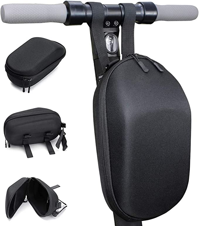 Vechkom Scooter Storage Bag Scooter Bag Front Handlebar Bag Suitable for Electric Scooter Folding Bike and Bicycle Waterproof EVA Hard Shell Bag with Reflective Strip 5L