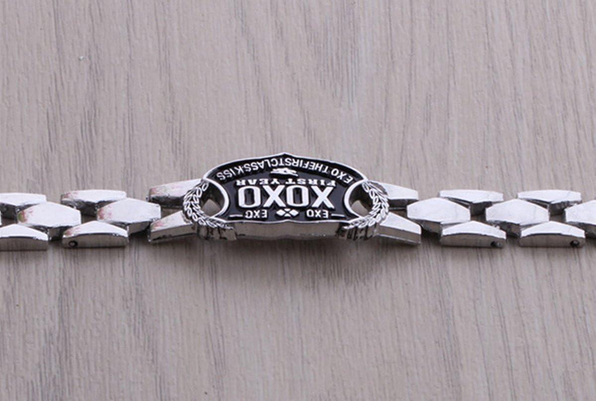 f419c722500b Pulsera Pulseras joyas Korean Decoration Kpop Group Exo Exo accesorios  negro Fan XOXO joyas novedad Fashion ...