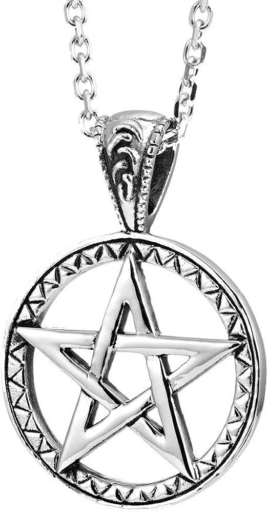 Urban Jewelry Powerful Pentacle Necklaces Pentagram, Seal of Solomon Pendant (Gift Box)