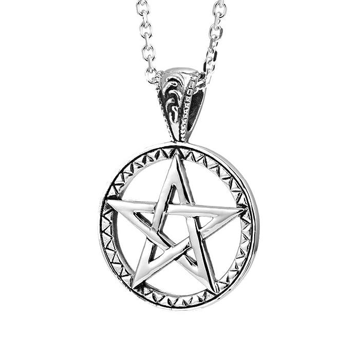 Amazon.com: Potente Pentacle collares Pentagram, sello de ...