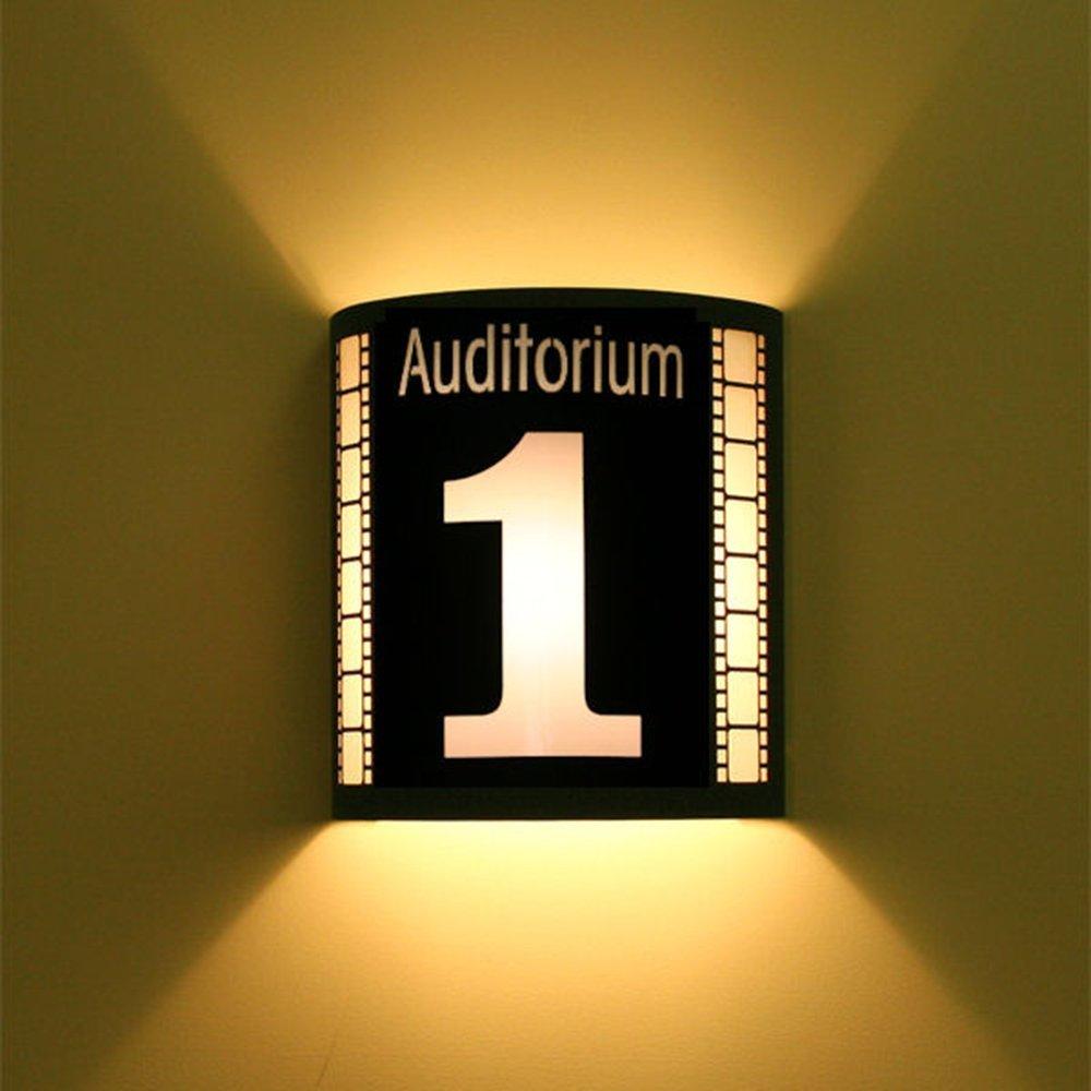 Auditorium 1 Black Home Movie Theater Sconces w/ Filmstrips