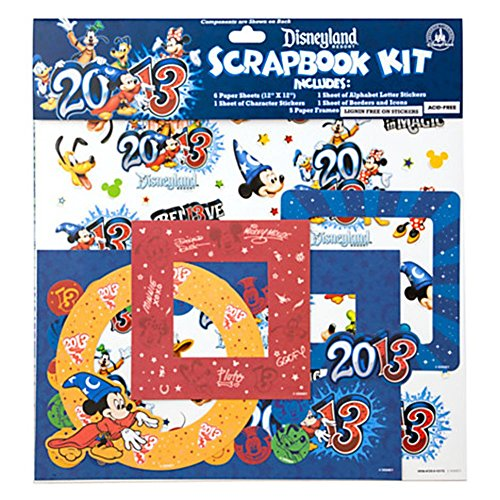 Disneyland Resort 2013 Sorcerer Mickey Mouse & Friends Scrapbook Kit