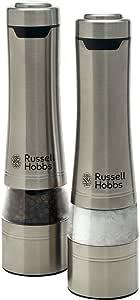 Russell Hobbs RHPK4000 Salt & Pepper Mills, Brushed, Silver