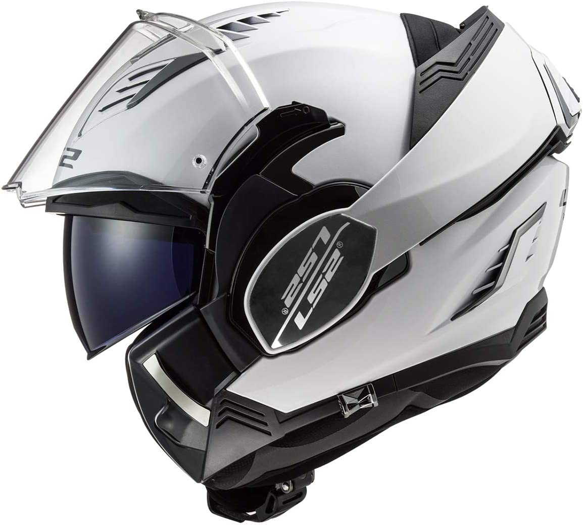 Gloss White - Medium LS2 Helmets Valiant II Modular Helmet