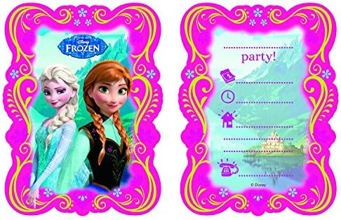 Juego de 6 tarjetas de invitación de Frozen – La Reina De ...
