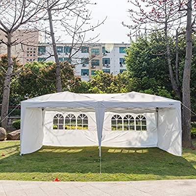 VINGLI Pop Up Canopy,Instant Tent,Removable Sidewalls,Folding EZ Up Canopy Tent,Patio Event Gazebo Beach Tent,UV Coated&Waterproof, Bonus Wheeled Carry Bag