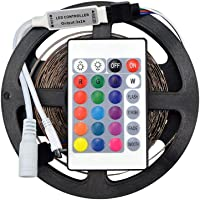 Low Price Waterproof RGB Remote Control Color Changing LED Strip Light, 5 Meter
