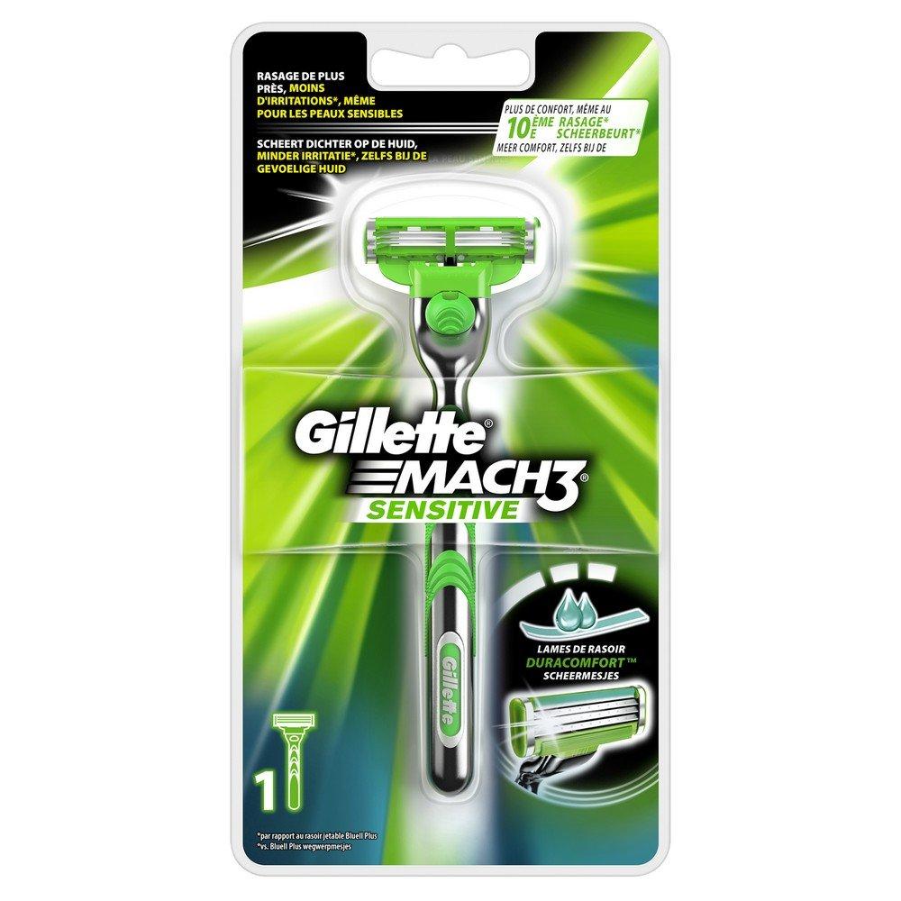Gillette Mach3 Sensitive Rasoir Pour Homme Peaux Sensibles