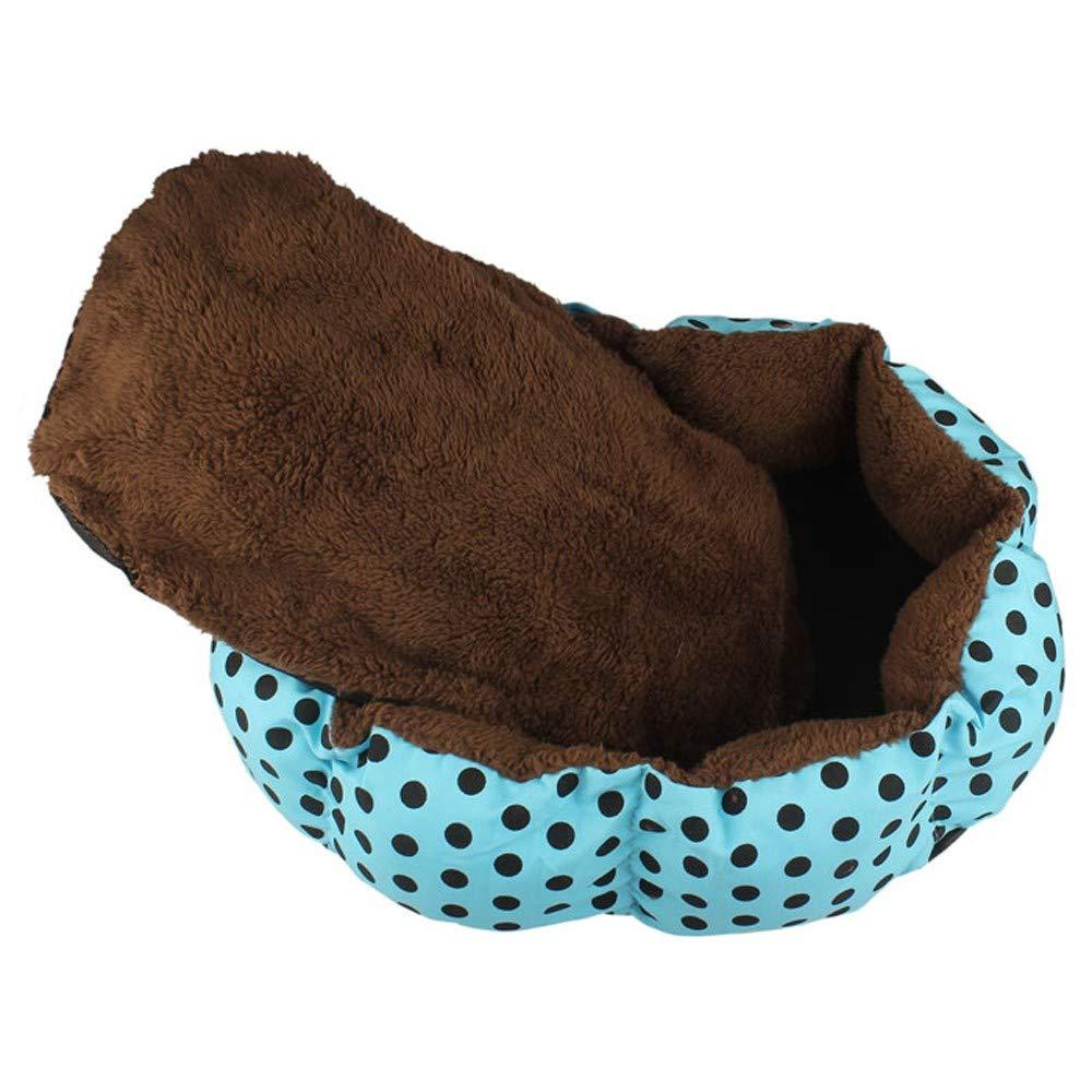 2019 New! Pet Bed,Small Dogs Winter Warm Fleece House Puppy Cat Plush Cozy Nest Mat Pad (36cm x 30cm, Blue) by Leewos-Pet Clothes (Image #4)