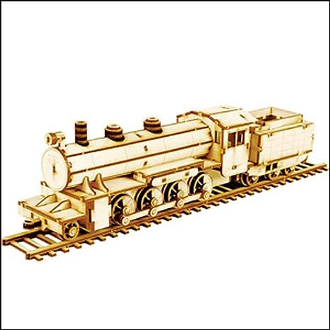 Desktop Wooden Model Kit Steam Locomotive By Young Modeler