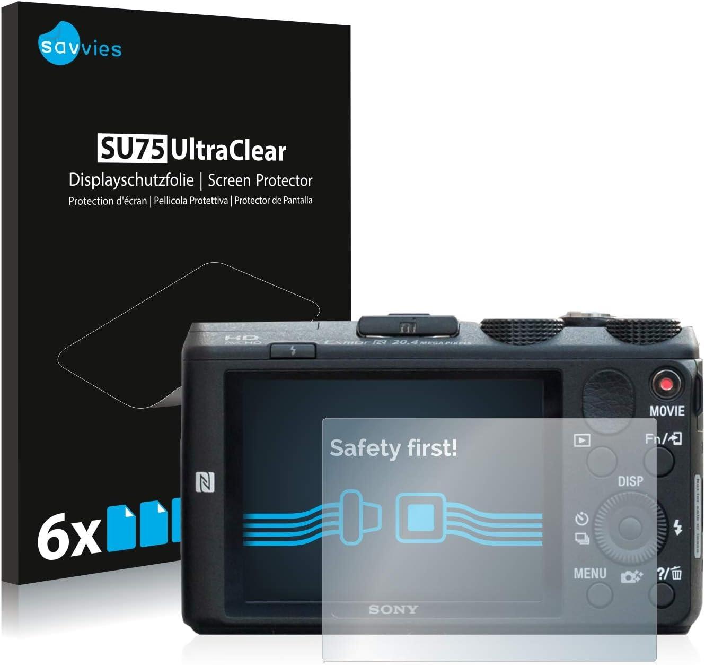 6x Sony Cyber-Shot DSC-HX60 Displayschutzfolie Klar Transparent Schutzfolie