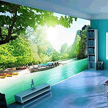 LHDLily Large 3D Wallpaper Mural Living Room Sofa Bedroom Tv Background Landscape Scenery