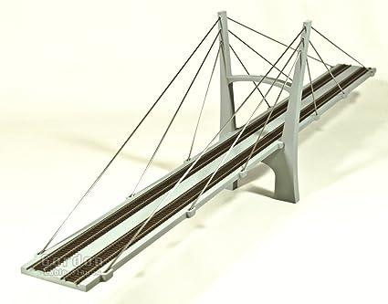 Amazon.com: CS30D 1/160 N Scale Cable Stayed Suspension Bridge ...