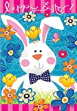 Cheap Easter Bunny – Standard Size, Decorative Double Sided, Licensed and Copyrighted Flag – MADE IN USA by Custom Decor Inc. 28 Inch X 40 Inch approx.