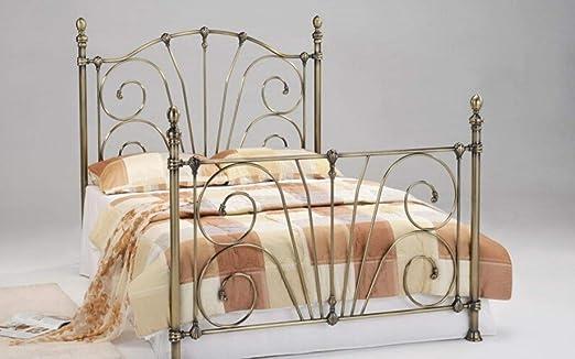 Sognare Il Letto Matrimoniale.Azura Home Style Letto Matrimoniale In Ottone Anticato Stile