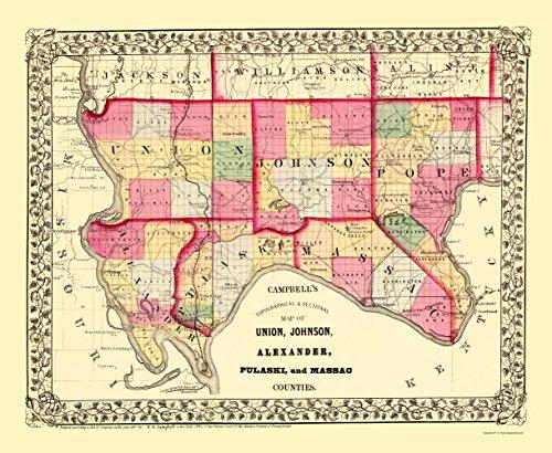 n, Pope, Alexander, Pulaski, Massac Illinois 1870 - 23x28 - Matte Canvas ()
