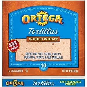 Amazon.com: Ortega Tortillas, Whole Wheat, 8 Inch, 10