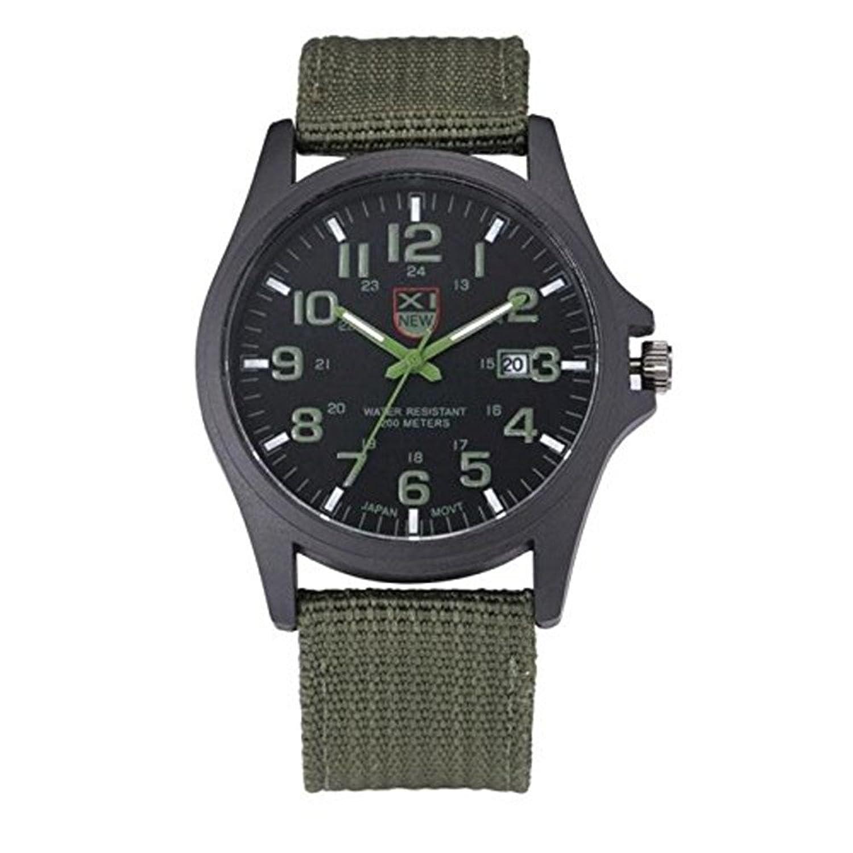 メンズ腕時計日付、baomabaoアウトドアステンレススチールSportsアナログクオーツ腕時計GN B01NBYBOC8
