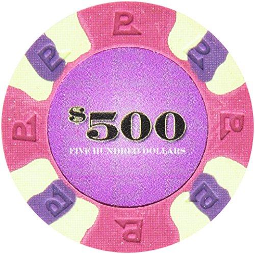 Trademark Poker NexGEN 6000 Series PRO Classic Style Poker Chips (Set of 50), 9gm, Purple ()