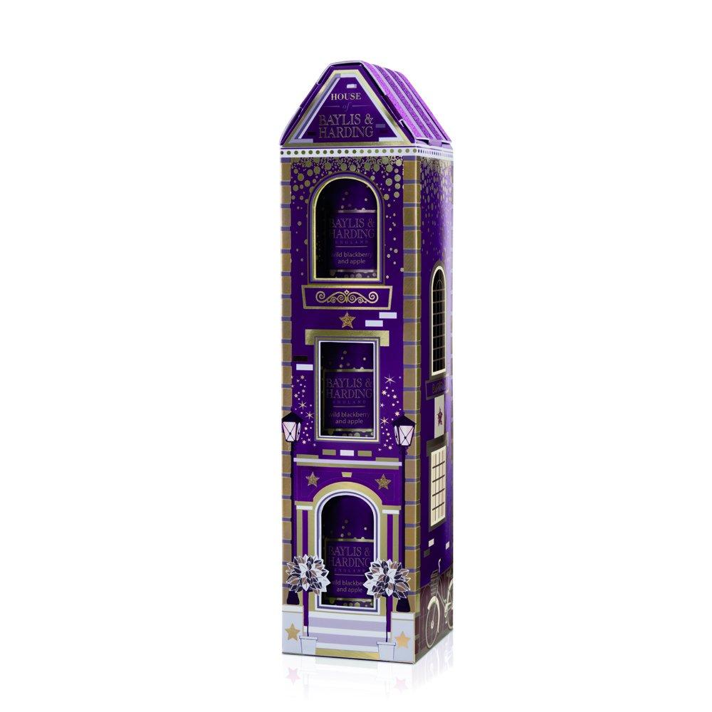 Baylis & Harding Wild Blackberry/Apple Luxury Single Wick Scented Candles Gift Trio uk beauty BAYLK BM16WBHFHOUSE