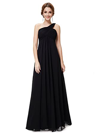 68a1ff465b6 Ever-Pretty Womens One Shoulder Floor Length Evening Dress 4 US Black