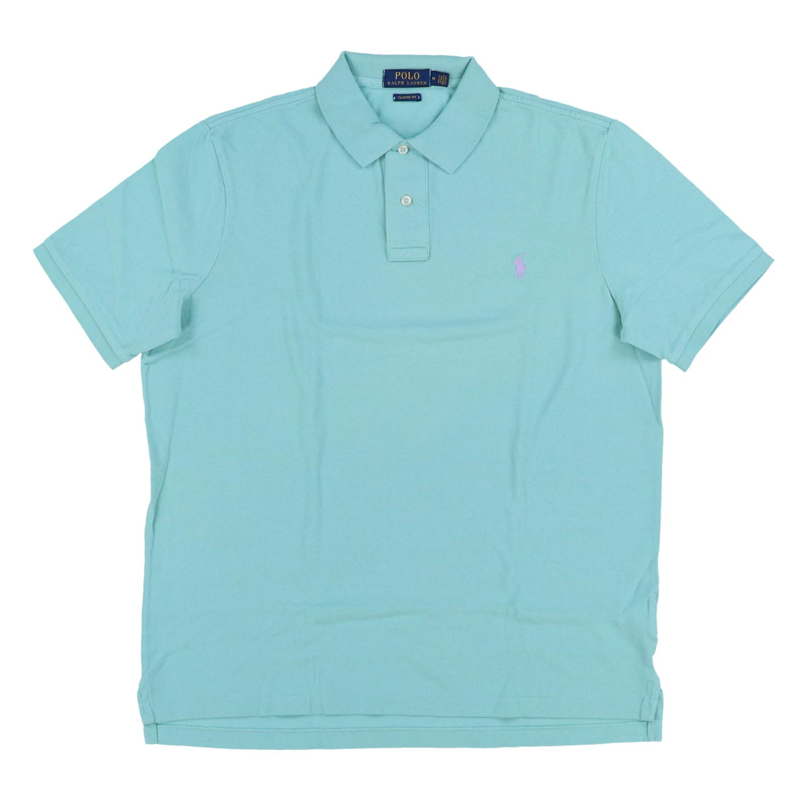 Polo Ralph Lauren Mens Classic Mesh Polo Shirt (XS, Sea Green)
