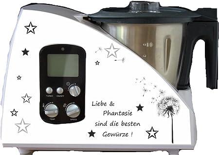 Robot de cocina pegatinas Diente Alemán Negro para Monsieur Cuisine: Amazon.es