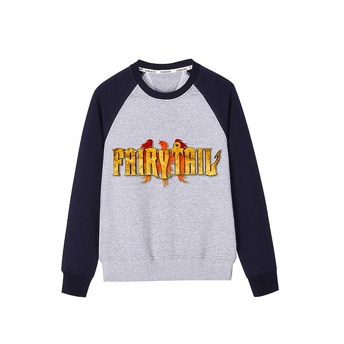 Aivosen Unisex Fairy Tail Sudadera Cuello Redondo Hip Hop Outwear Moda Sencillas Sweatshirt Top: Amazon.es: Ropa y accesorios
