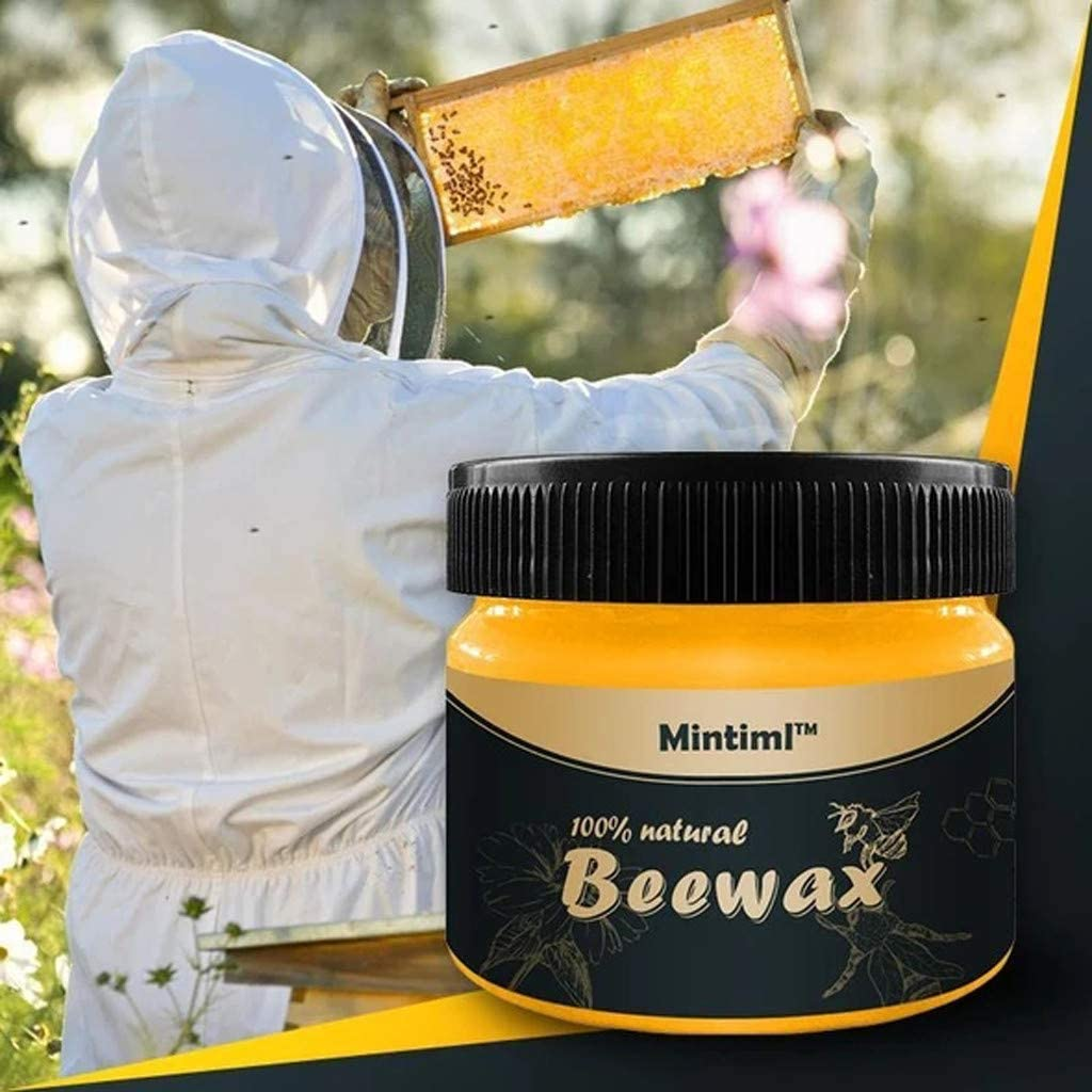 Luonita Natural Beeswax Wood Care Wax Paste Furniture Polish, Waterproof Wood Conditioner and Protectant, Eliminate Dry Keep Glossy Look,85 g