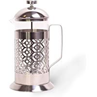 1L French Press roestvrijstalen koffiezetapparaat theepers koffiepers pers persstempelkan glas koffiepot persfilterkan…