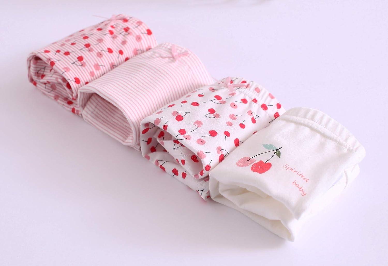 Kids Children Series Comfy Cotton Girls Underwear Boyshorts Pack of 4