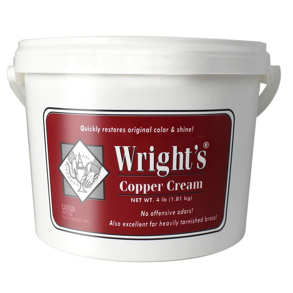 JA Wright Wright's 11121-00321 4 Pound Tub Cream Copper Polish