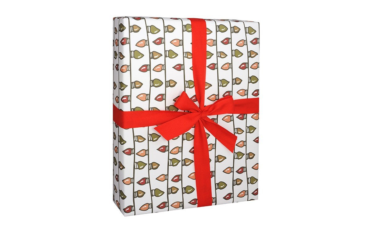 Christmas Lights Gift Wrap Wrapping Paper