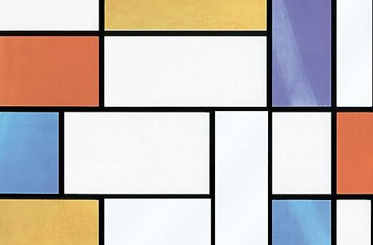Fablon FAB10520 Mondrian Window Film Brewster Wallcovering--DROPSHIP