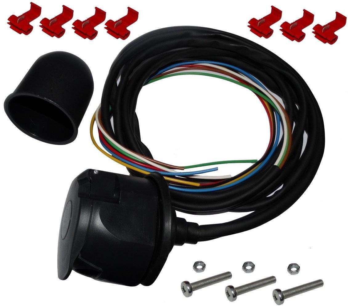 AERZETIX: Kit de enchufe para remolque con cable 2m 7pines 12V bola de laton SK2-C12385-B310