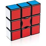 Findbetter 一列 ルービックフラット 3×1 1x3x3 競技用 フロッピーキューブ 黒素体 国際協会段落試験専用キューブ 世界基準配色 PVCシール 平面と三次元変換 こども 脳トレ 知育玩具 57x57x19mm