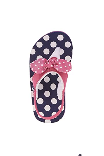 8dec8be0aba2fd Amazon.com  Wonder Nation Toddler Girls  EVA Beach Flip Flop Size  11-12  (Navy Pink with Polka Dots)  Shoes