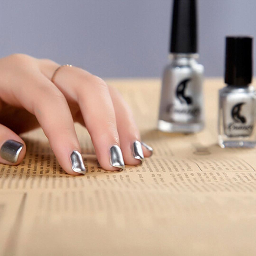 Toamen Esmalte De UñAs Plating Silver Paste Metal Color Acero ...