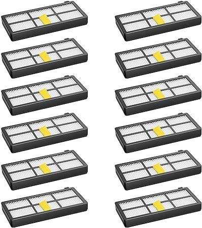 WEYO - Juego de 12 filtros para robot aspirador iRobot Roomba 800 850 851 860 865 866 870 871 876 880 885 886 890 891 896 900 960 966 980 Kit de accesorios de repuesto: Amazon.es: Hogar