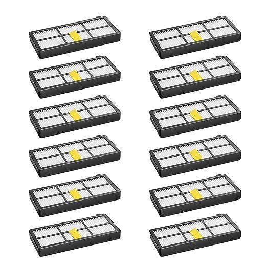 Juego de 12 filtros para irobot Roomba 800 850 851 860 865 866 870 ...