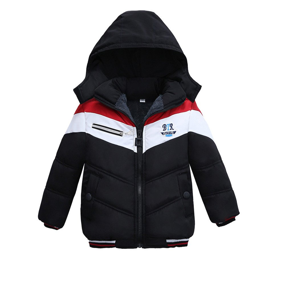 Zerototens Warm Coat for 1-5 Years Old Kids, Newborn Infant Toddler Baby Boys Fashion Handsome Thick Coat Padded Winter Jacket Clothes Outdoor Windproof Outfit