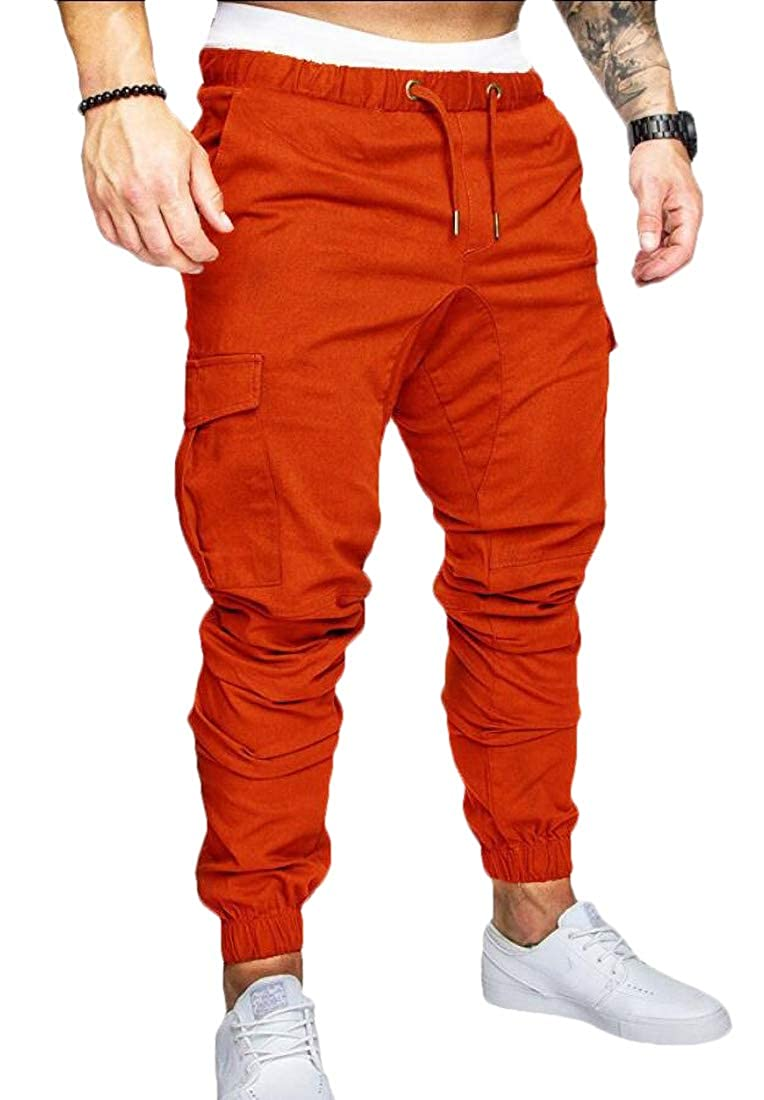 HTOOHTOOH Men Fashion/'s Chino Casual Trouser Outdoor Working Pants Jogger Cargo Pants